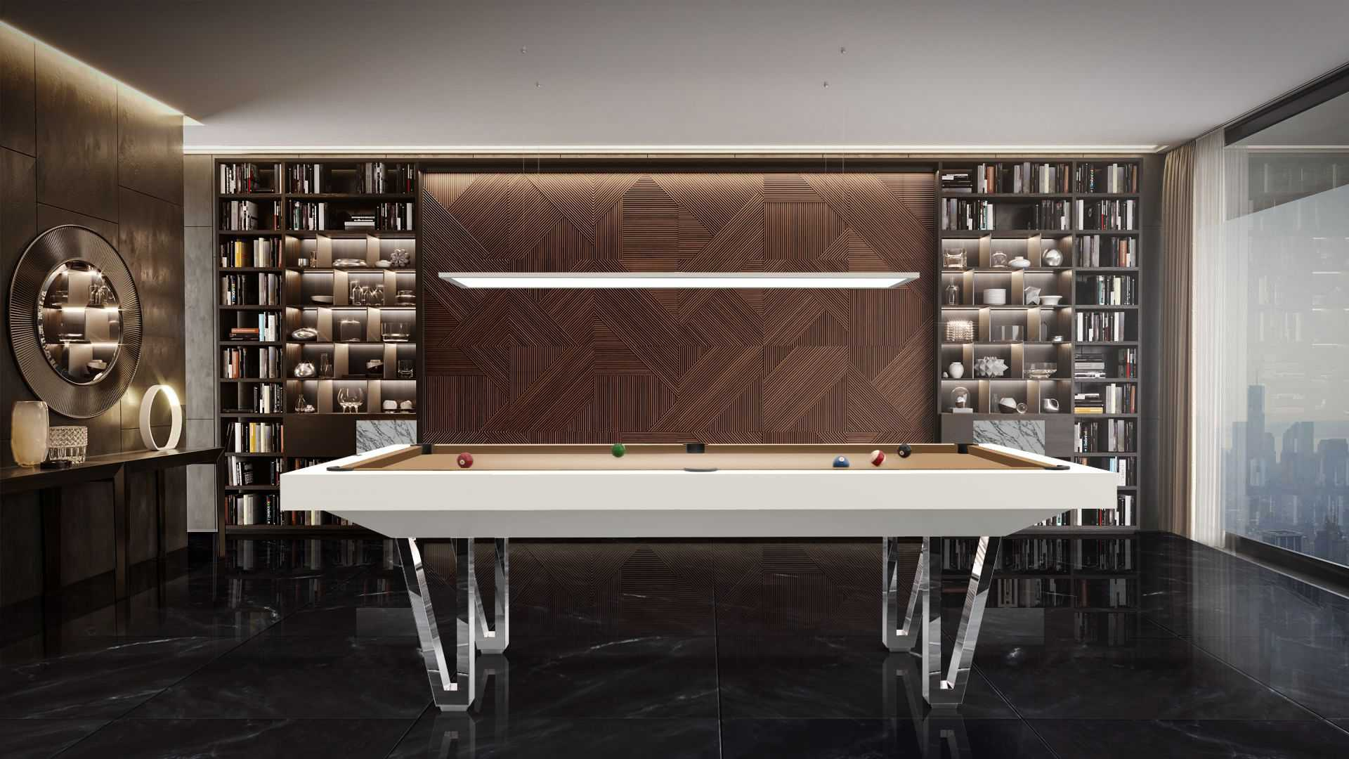 Pool Table mod. Cayenne Two Lacquered metal bases 1