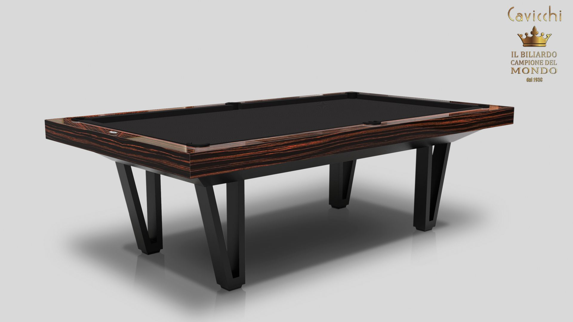 Pool Table Cayenne Two Bicolor Ebony Makassar Wood - Showroom Shop 6