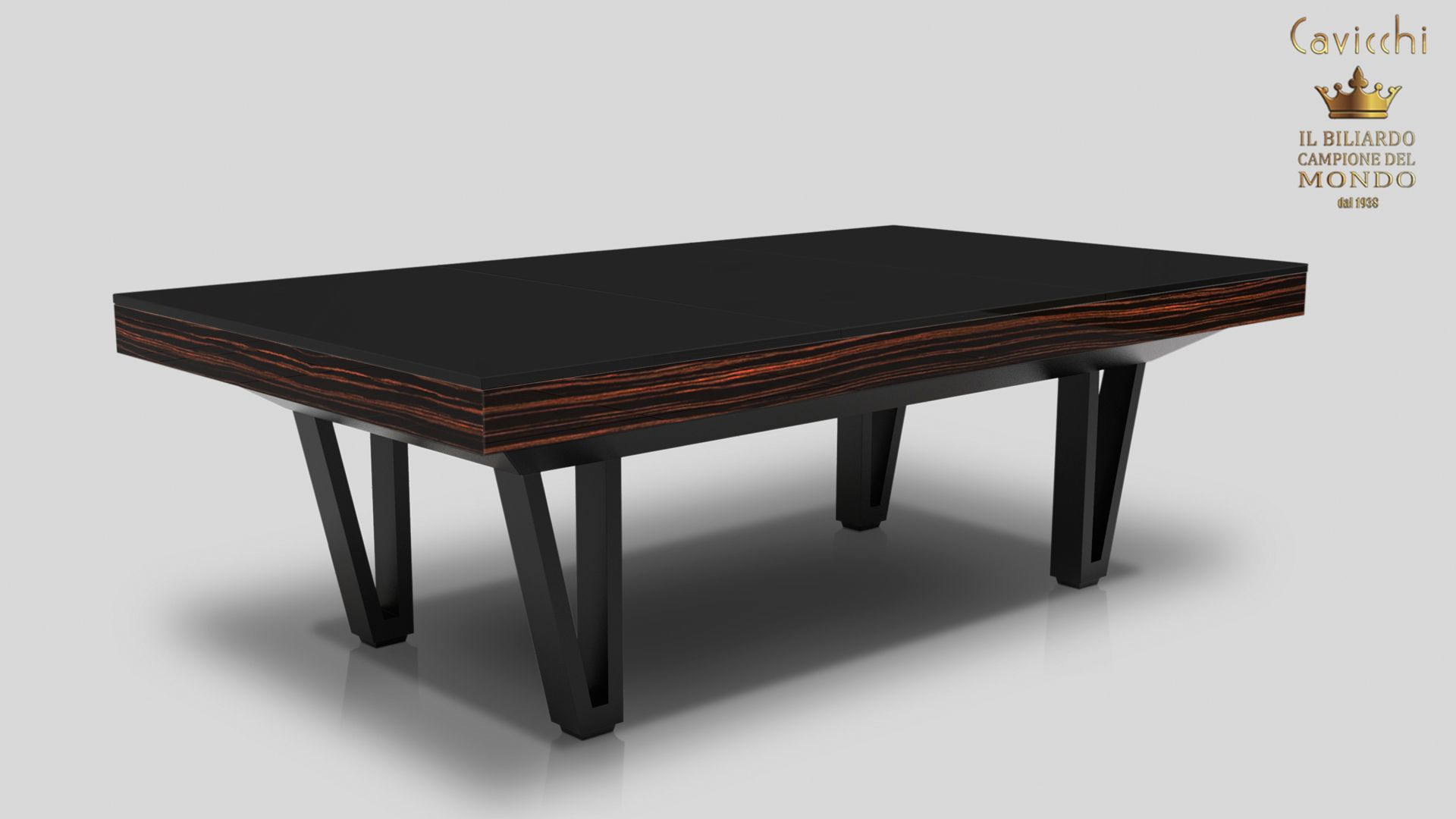 Pool Table Cayenne Two Bicolor Ebony Makassar Wood - Showroom Shop 8