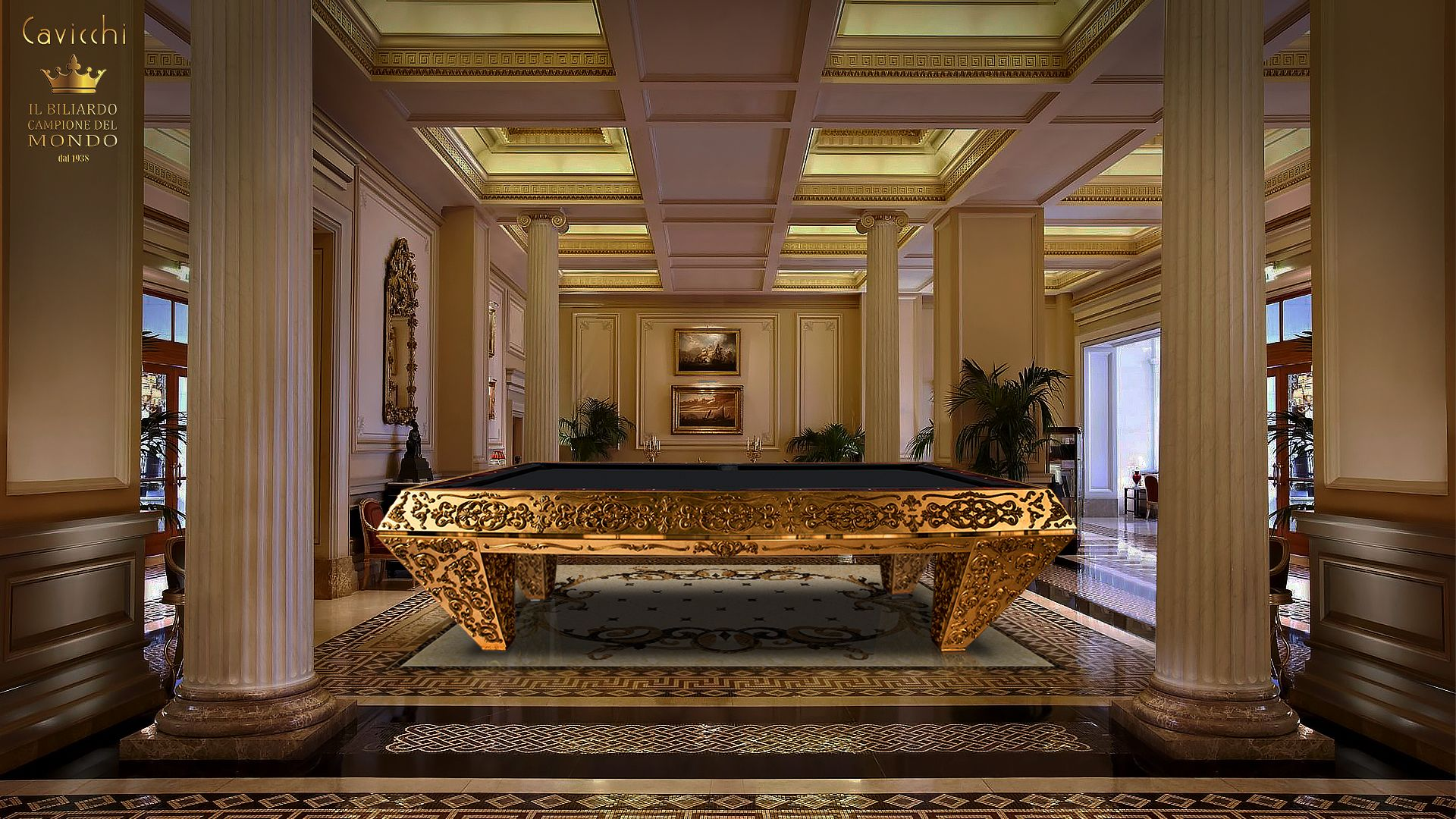 Pashà Gold Pool Table - Showroom Shop 2