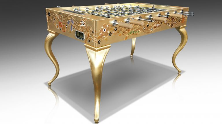 Opera Soccertable Klimt Gold Leaf