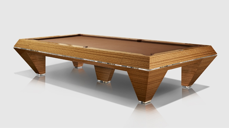 Millennium Precious Woods Ebony Makassar/Zebrano 5 bases Billiard Pool Table