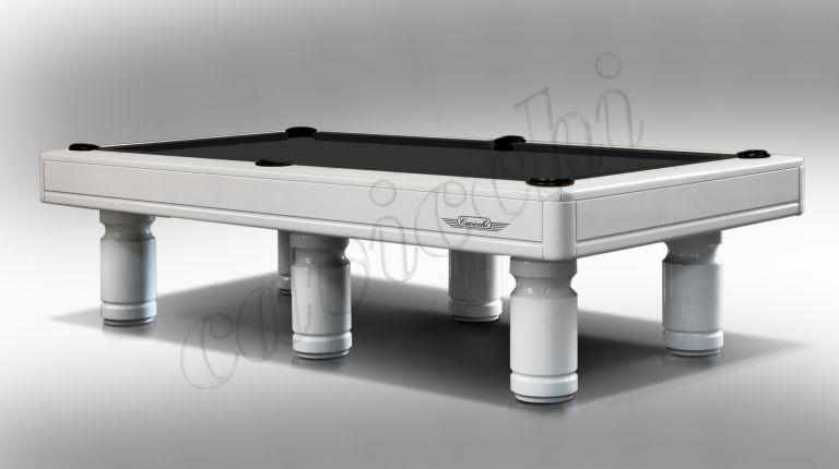 (RIF. P-12) Luxury Biliardo Cavicchi  Pool Evolution Laccato bianco a 6 basi