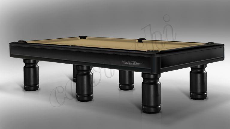 (RIF. P-13) Luxury Biliardo Cavicchi  Pool Evolution Laccato Nero a 6 basi