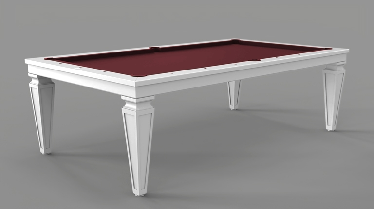 Cavicchi Cheope White - Black Pool Table