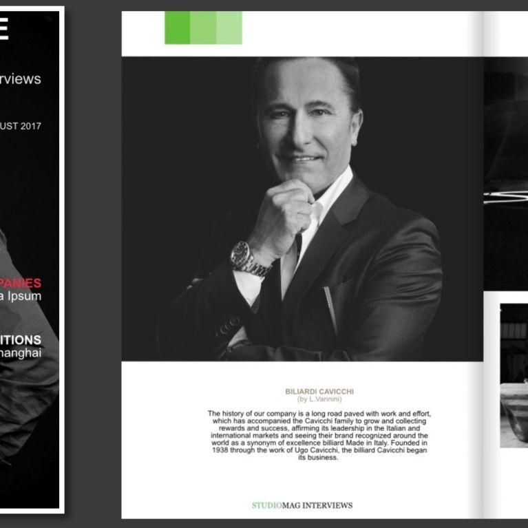 biliardi Cavicchi e il biliardo Esclusivo unico al Mondo Sinfonia  su StudioMagazine Miami USA