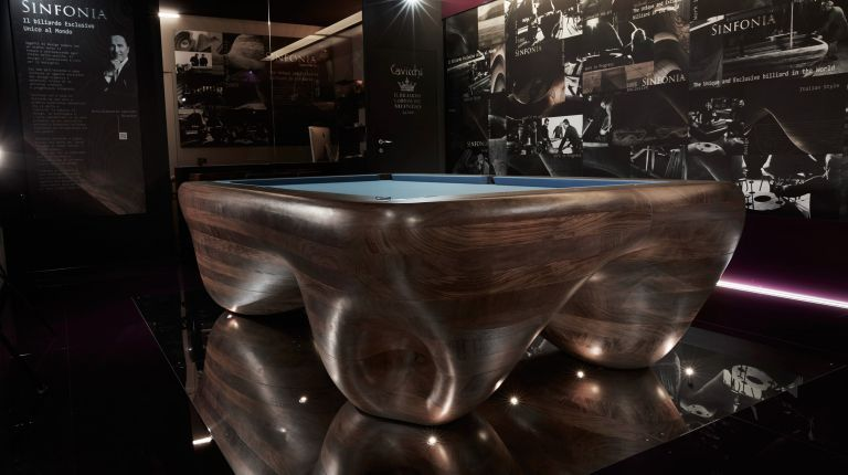 Cavicchi Sinfonia Pool Table Esclusive Artwork Unique in the World