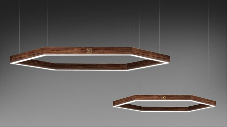 Orsa Maggiore - Orsa Minore Lamp lacquered and precious woods