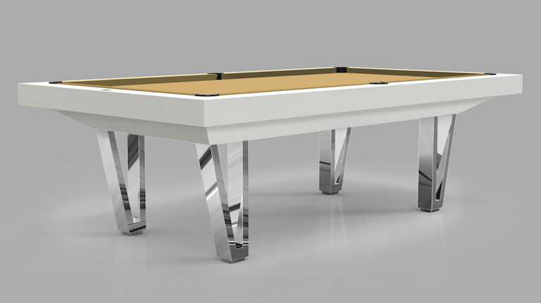 Pool Table mod. Cayenne Two Lacquered with Wood Chome Bases