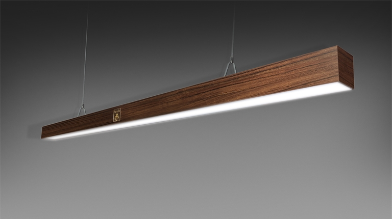 Stilo lamp lacquered and precious woods