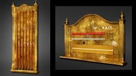 Klimt Gold Leaf Cue Holder and Scorekeeper Set