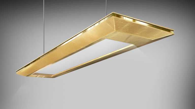 Gold Leaf Technology Chandelier