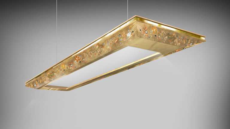 Светильник «Technology Klimt Золотой лист»