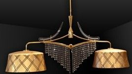Gold Leaf Murano Chandelier