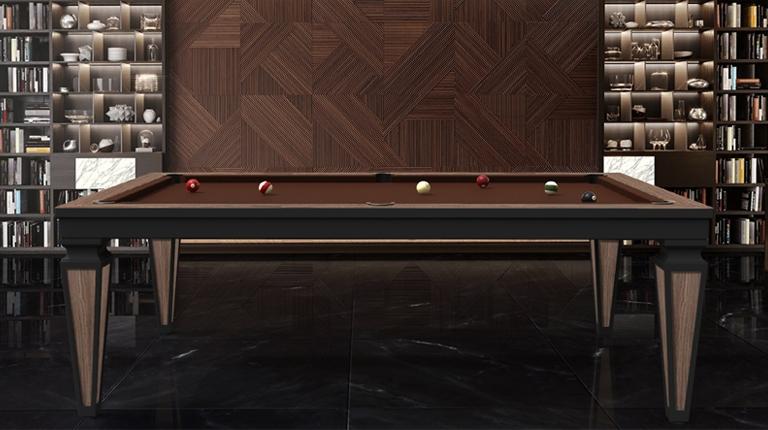 Бильярдный стол Cheope Style черный магазин шоу-рум