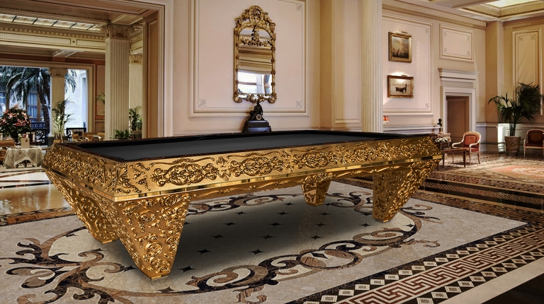 Pashà Gold Pool Table - Showroom Shop