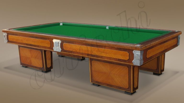 (RIF. B-10) Biliardo Classico usato d'occasione con buche 4 basi in legno