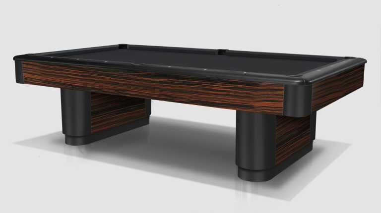 Diamond Ebony Makassar Pool Table