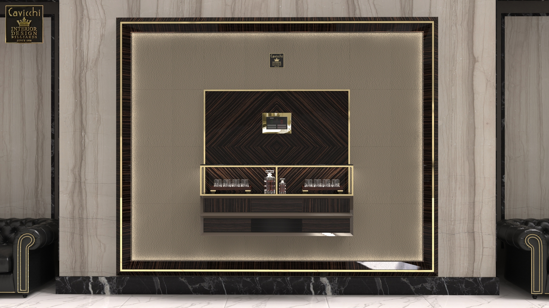 Boiserie per poker room