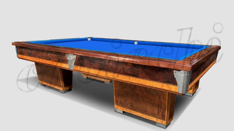 (RIF. B-27) Biliardo Classico usato d'occasione con buche 4 basi in legno