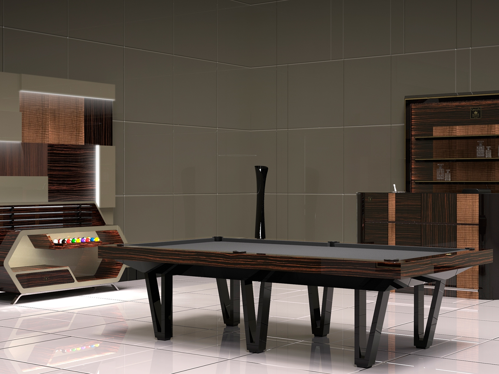 EXCLUSIVE CAYENNE POOL TABLE