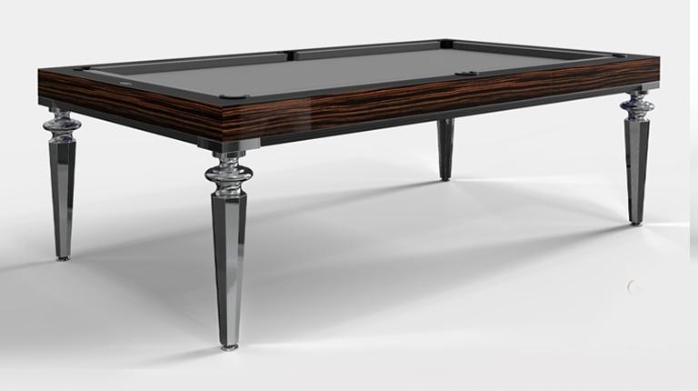Pool Table Princess Bicolor Ebony Makassar Wood