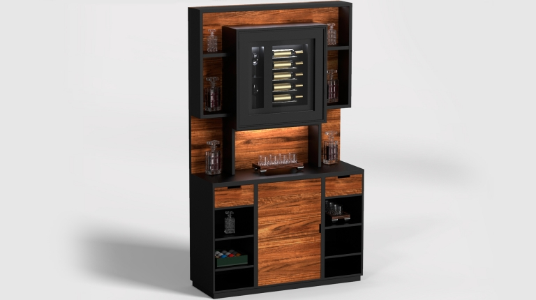 Mobile Bar Drink Wall