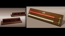 Canossa Wood Cue Holder and Scorekeeper Set