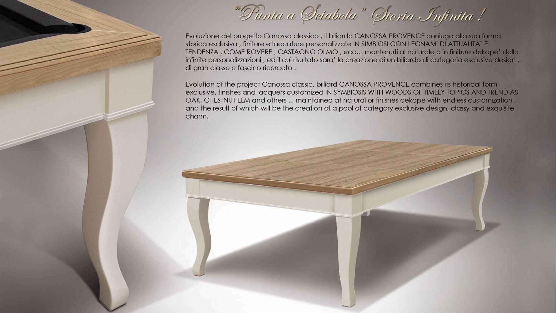 Biliardo Tavolo Cavicchi Canossa Provence WHITE - Showroom Shop 3