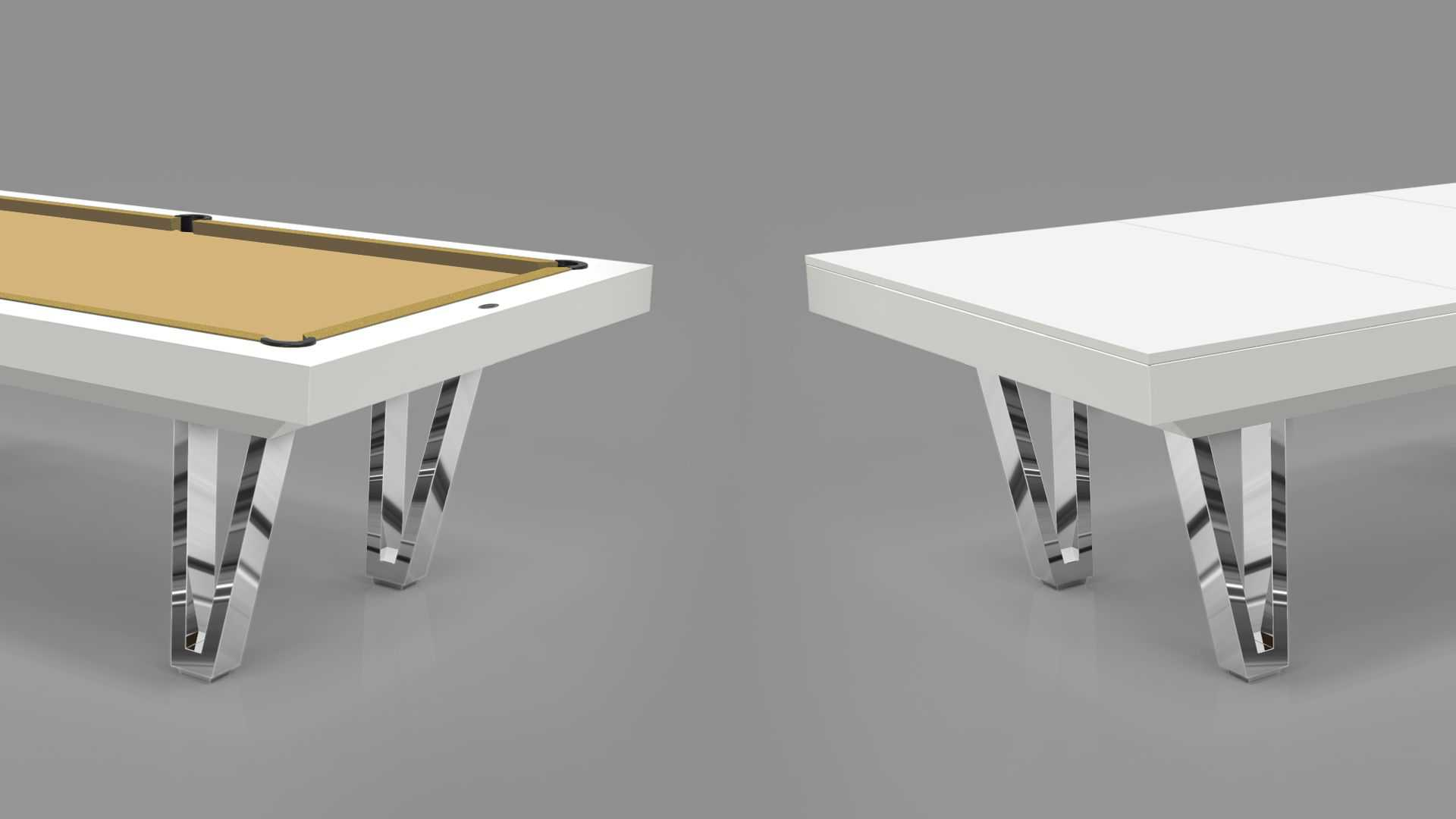 Pool Table mod. Cayenne Two Lacquered metal bases 2
