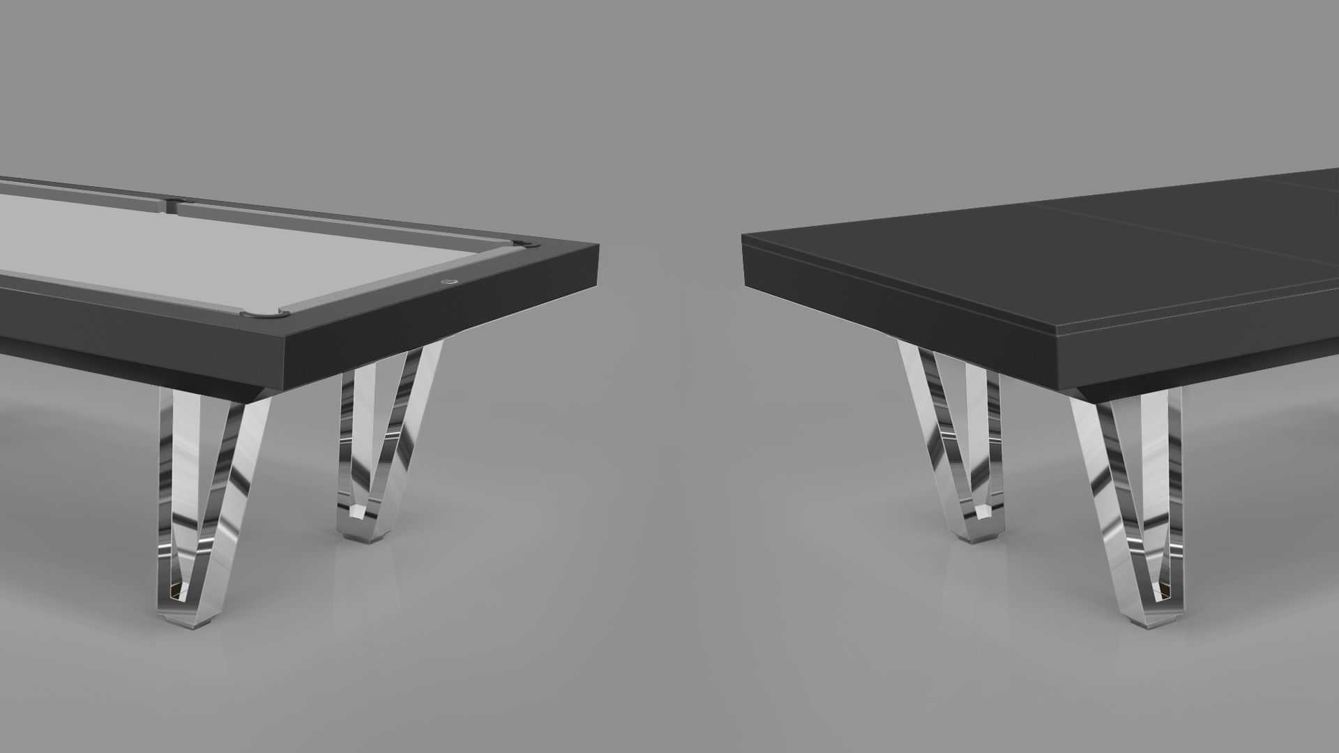 Pool Table mod. Cayenne Two Lacquered metal bases 7