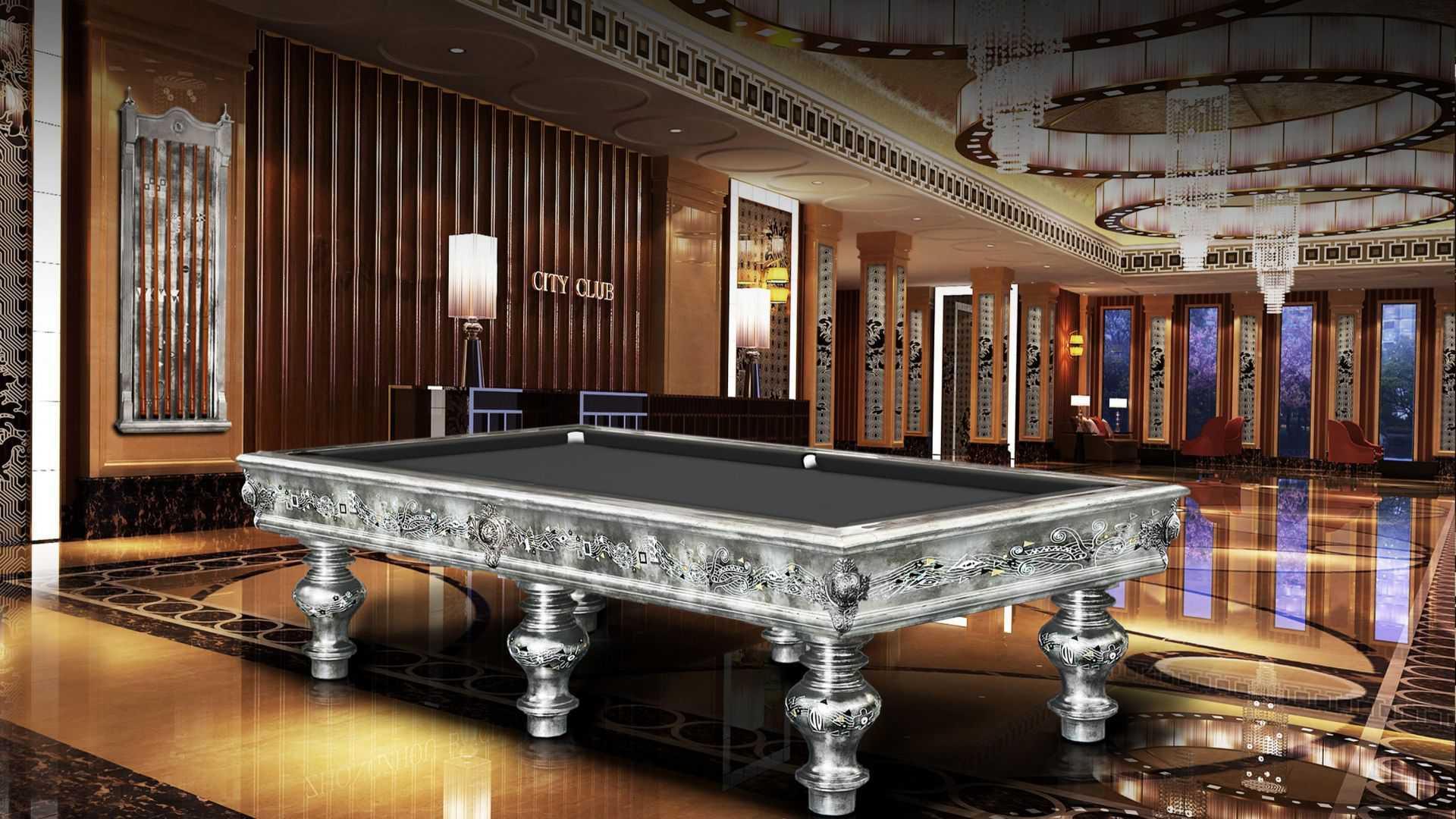 KLIMT SILVER LEAF billiard Pool Table 6/8 bases 3