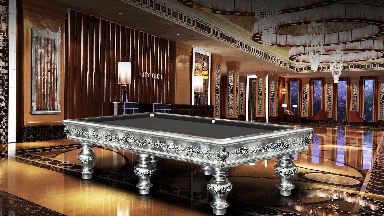 Klimt Silver Leaf billiard Pool Table 3