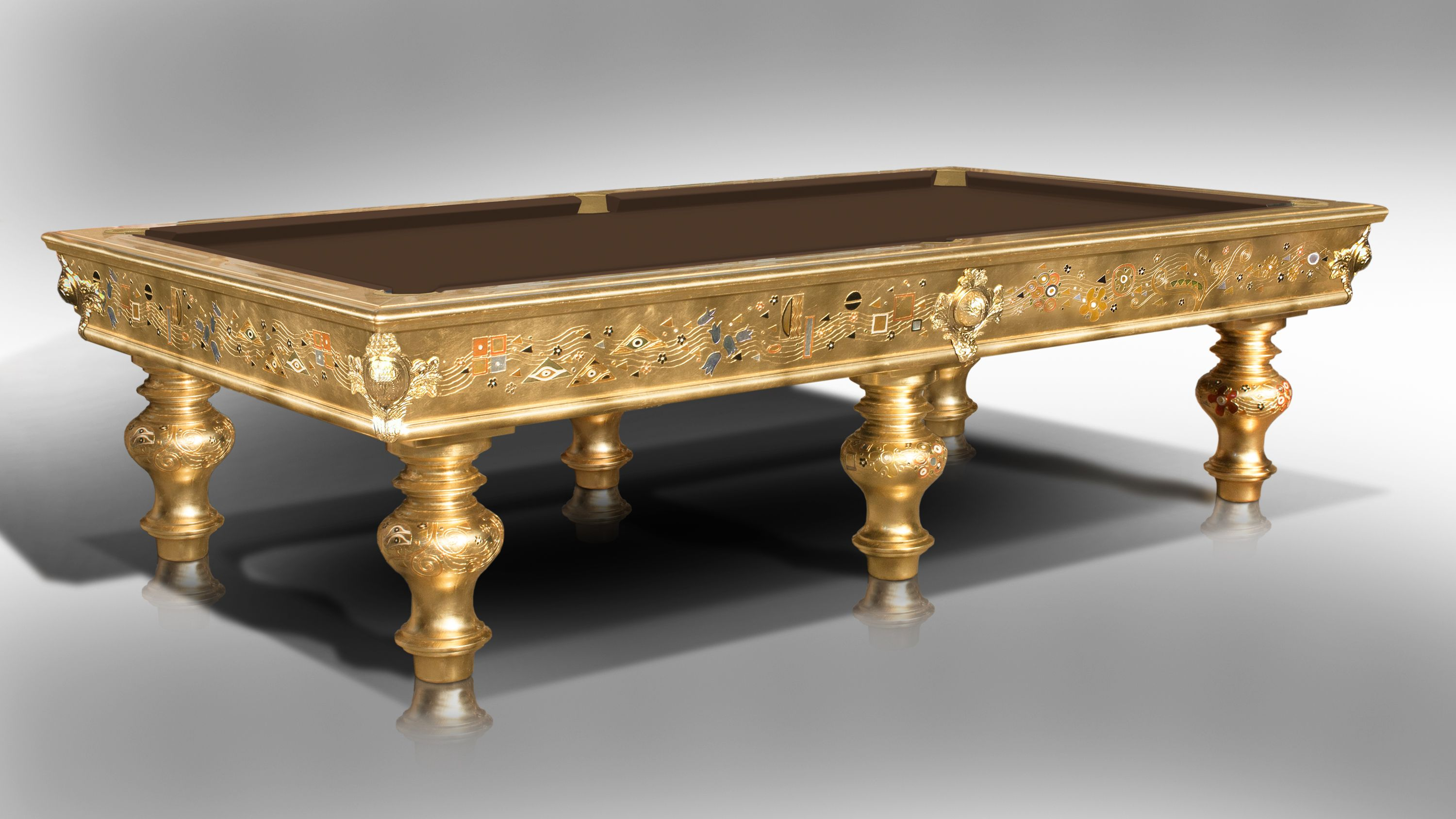 Klimt Natural Gold Leaf billiard Pool Table 2