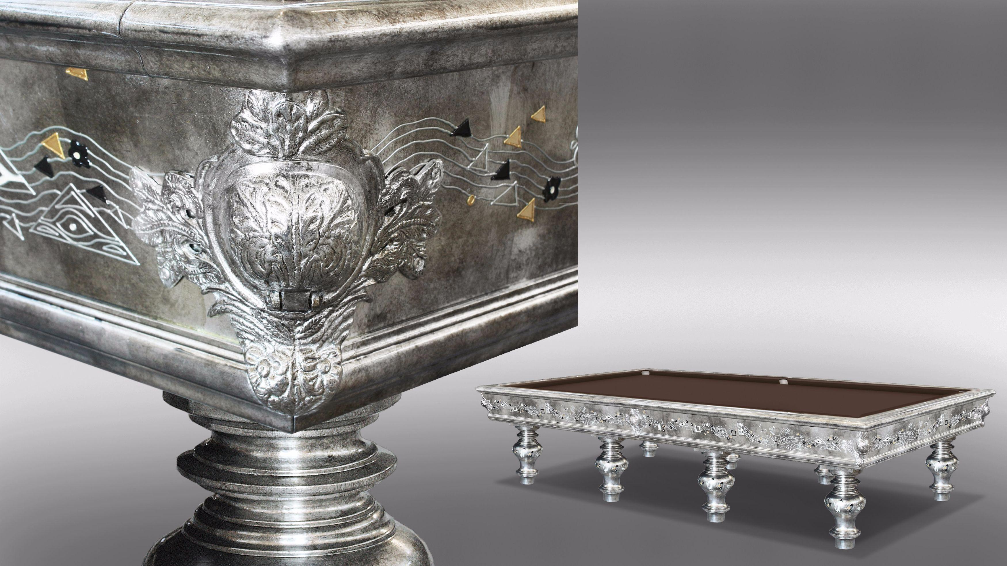 Klimt Silver Leaf billiard Pool Table 6