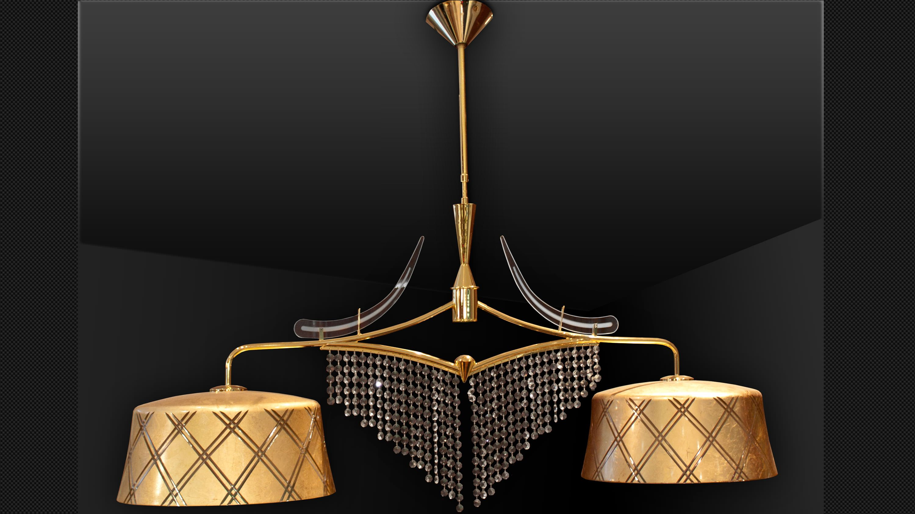 Gold Leaf Murano Chandelier 1