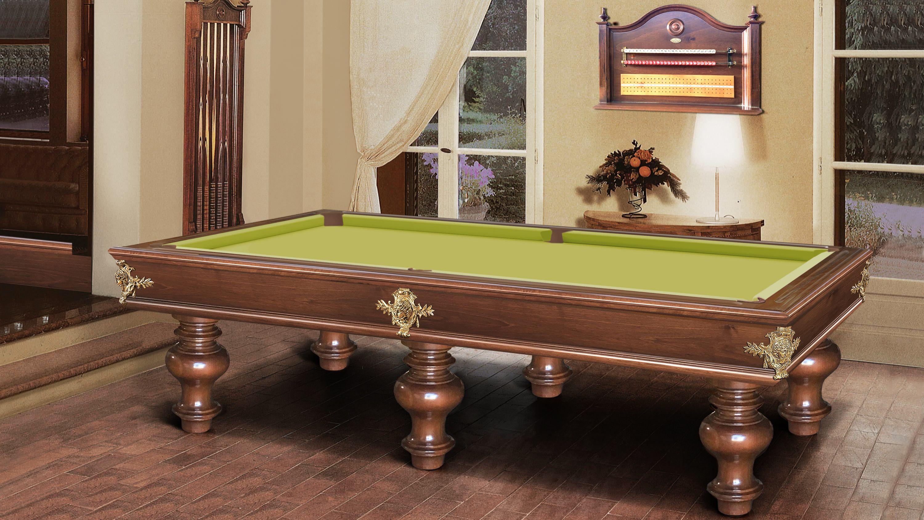 Leonardo Onion Walnut Billiard Pool Table 2