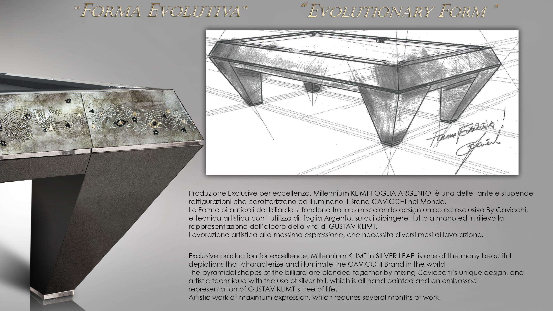 Millenium 5 bases Klimt Silver Leaf Billiard Pool Table 1