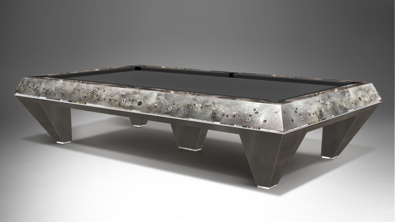 Millenium 5 bases Klimt Silver Leaf Billiard Pool Table 2