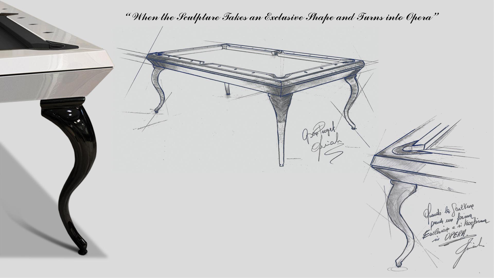 Opera billiard table White Pearled - Showroom Shop 1