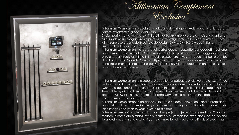 Millenium Klimt Silver Leaf Billiard Pool Table 8