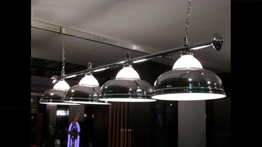 lampadari da biliardo : Lampadario 4 campane cromo cristallo Lampadari Commerciali Arredo ...