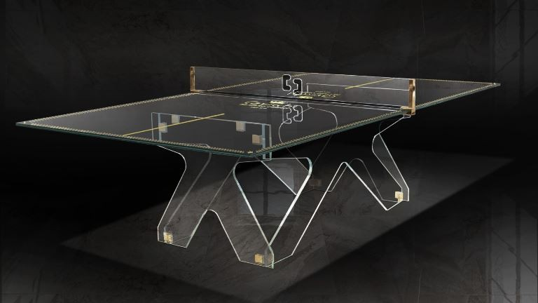 Crystal Tennis Table Ping Pong Meeting